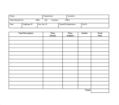 Daily Timesheet Template 15 Free Download For Pdf Excel Daily Timesheet Template