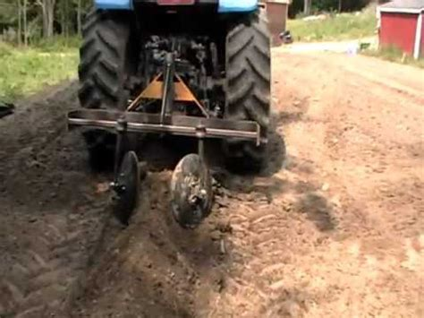 John Deere 2 Row Planter For Sale by Part 1 Home Made Tractor Attachment Hiller Row Bed Maker