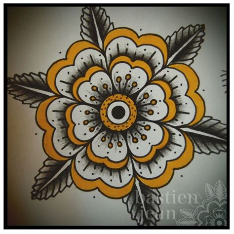 traditional flower tattoo designs traditional geometric flower search