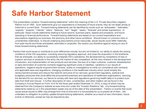 section 212 statement hms holdings corp form 8 k ex 99 2 november 8 2011