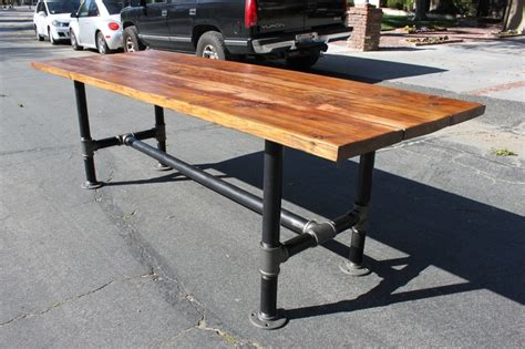 industrial pipe table legs wood table with industrial pipe legs colin kitchen