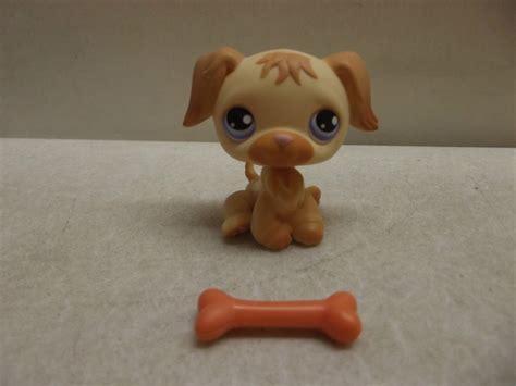 lps golden retriever ebay littlest pet shop lps golden retriever puppy w bone 286 purple ebay