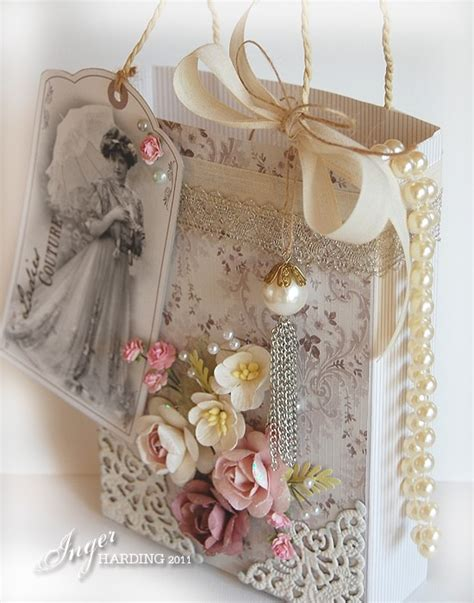 vintage shabby chic gift bag this is absolutely gorgeous