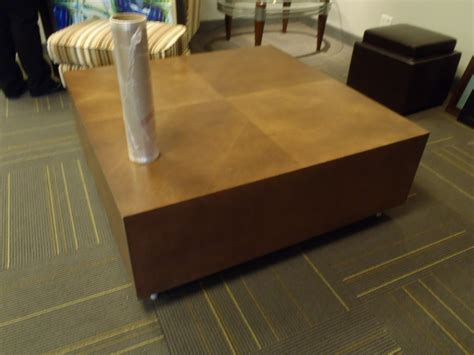 large thick wood square coffee table 48x48 quot allsold ca