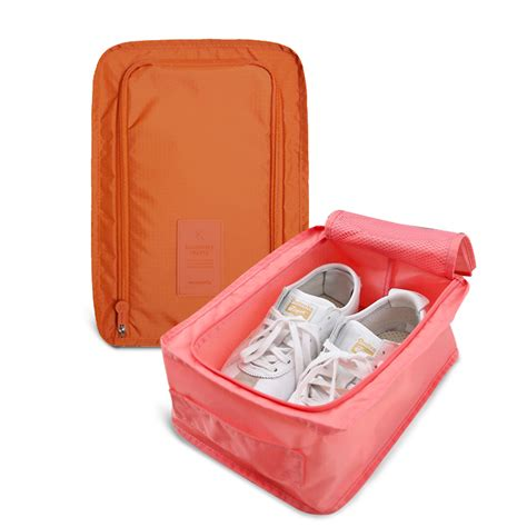 Tas Sepatu Cover Sarung Sepatu Traveling Shoe Bag Polos Waterproof 6 korean shoes pouch for traveling ver 3 tas sandal sepatu shoes bag organizer elevenia