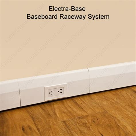 running cable baseboard electra base baseboard raceway system