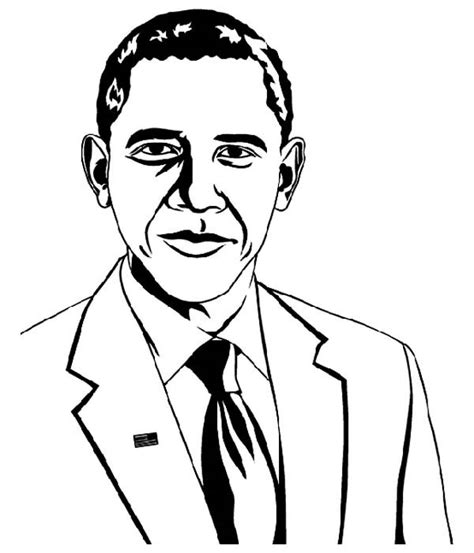 barack obama coloring page fablesfromthefriends com