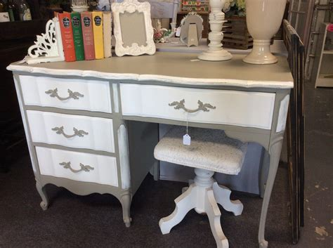 stunning linen white distressed desk