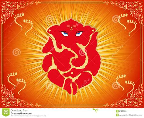 design background ganpati background with ganpati footprints royalty free stock