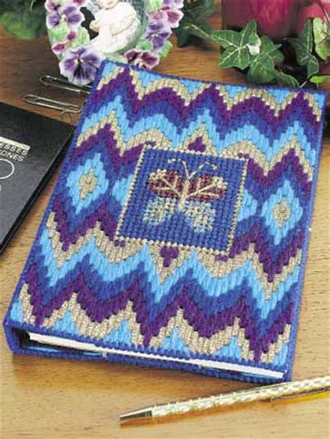 free pattern for notebook cover butterfly bargello notebook