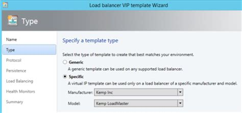 System Center Plugin Kemp Technologies Kemp Load Balancer Templates