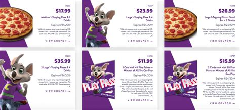 chuck  cheese coupons   tokens