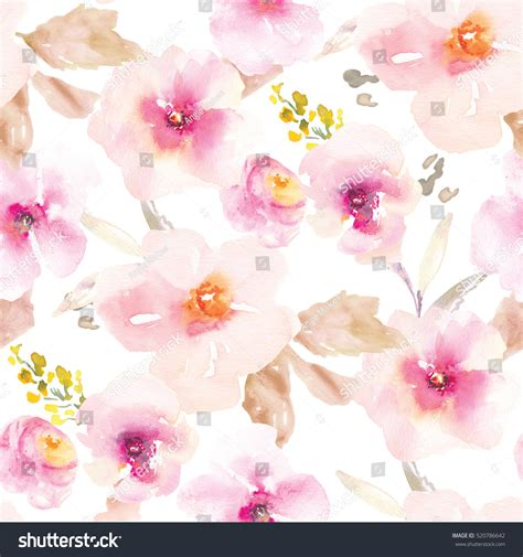 Floral In Pink modern pink purple floral pattern flower stockillustratie