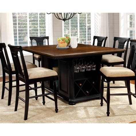 furniture of america counter height dining table