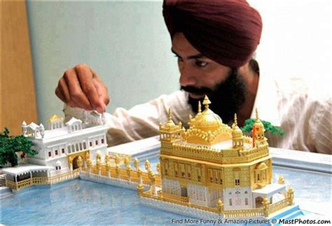 How To Make A Temple Out Of Paper - golden temple model made using paper only
