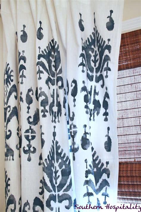 Scarla Ikat ikat stencil drapes southern hospitality