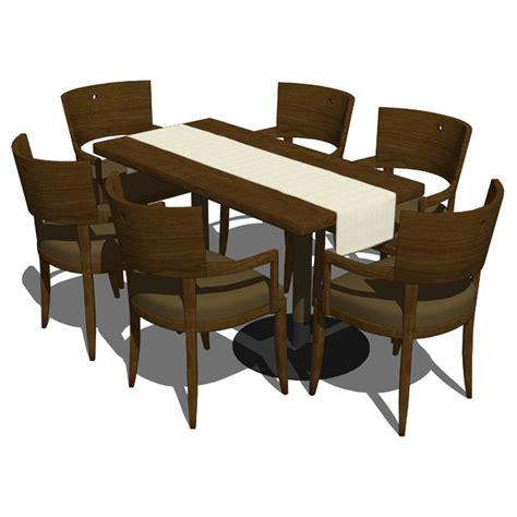 restaurant dining set 3d model formfonts 3d models