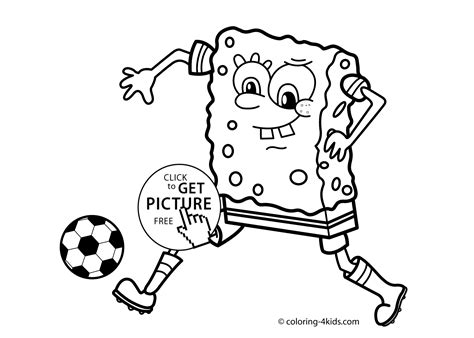 soccer sport coloring page for kids printable free