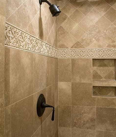 bathroom border tile ideas 1000 ideas about shower tile designs on pinterest