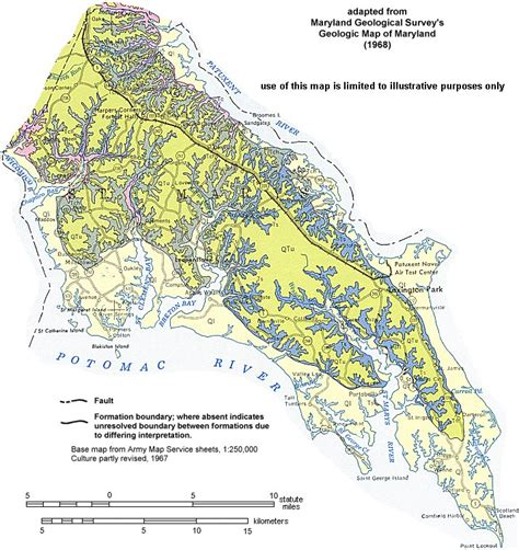 maryland formation map geologic maps of maryland st marys county