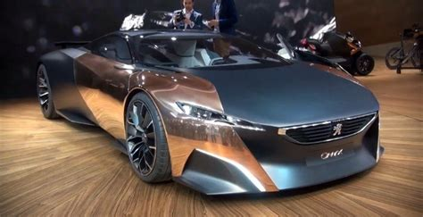 peugeot copper peugeot builds supecar out of copper carbon fiber and