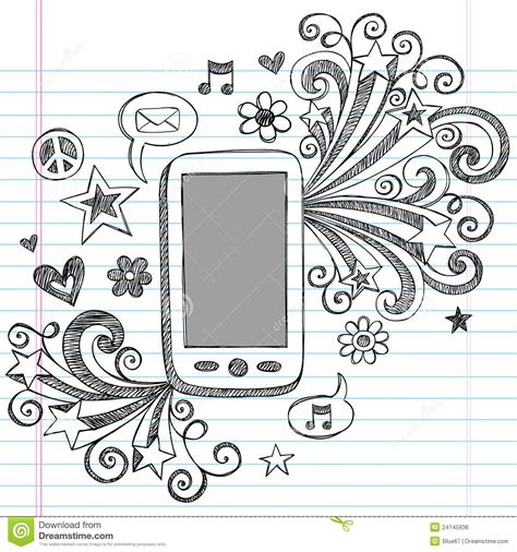doodle free for mobile cell phone sketchy doodles pda vector stock vector image