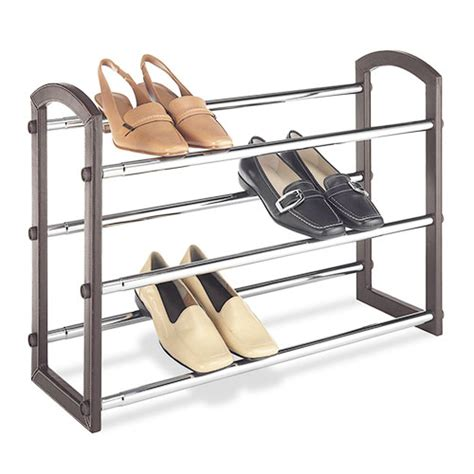 Walmart Shoe Racks by Whitmor Expandable 3 Tier Shoe Rack Faux Leather