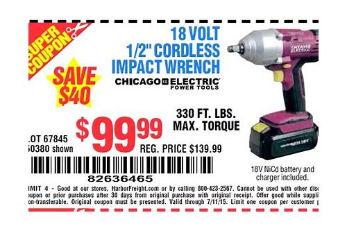 harbor freight impact wrench coupon code
