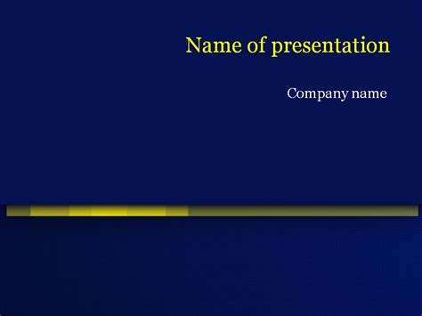 free blue powerpoint template for presentation