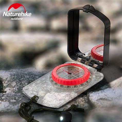 naturehike kompas luminous dengan penggaris kaca led black jakartanotebook