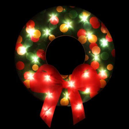 illuminated red bow window silhouette 21 quot lighted shimmering wreath with bow window silhouette decoration walmart