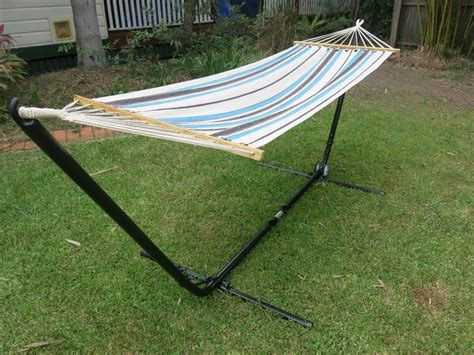 Small Hammock Small Blue And White Canvas Hammock With Spreader Bar