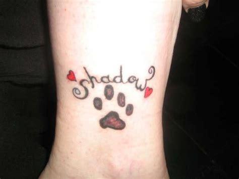 tattoo shadow cat paw tattoo images designs
