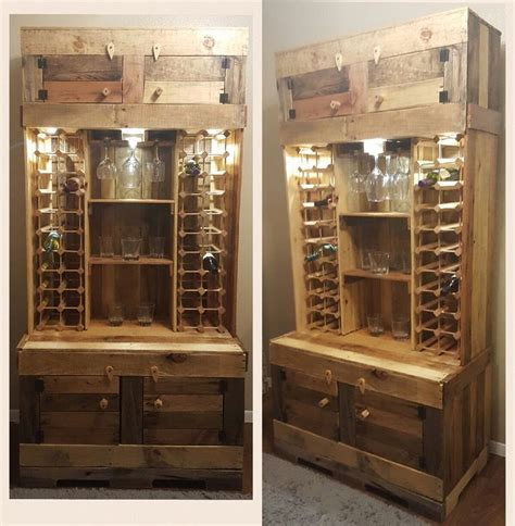 wine and liquor storage cabinets diy rustic wine and liquor cabinet with recessed lighting