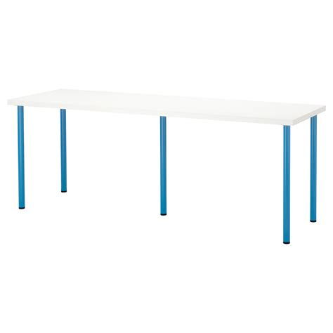 Linnmon Desk by Adils Linnmon Table White Blue 200x60 Cm