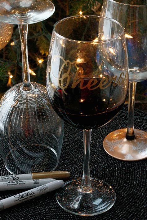 Decorating Glass With Sharpies by Diy Wine Glasses Using Sharpies Fabtastic