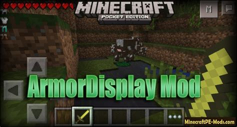 mods for minecraft pe android armordisplay mod for minecraft pe android 0 11 1 0 10 5