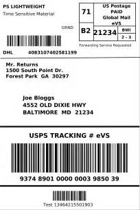 international shipping label template dhl ecommerce generate a shipping label