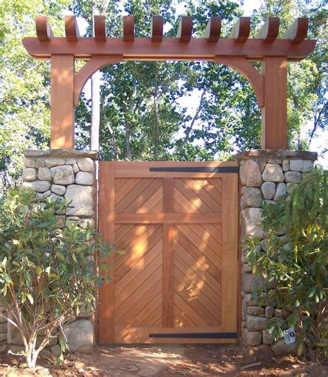 Wood Garden Arbor Gates 13 Best Design Ideas Fence Posts Images On