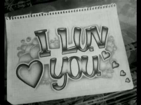 imagenes de i love you a lapiz amor te amo graffiti a lapiz imagui