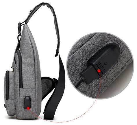 Bag Cowotas Selempang Cowok Code Hbg588 tokoasiaku jual tas selempang sling bag dengan usb charger port harga murah selalu diskon