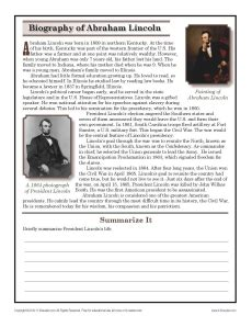 abraham lincoln lesson plan activity worksheet us 2016