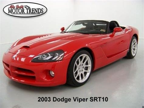 where to buy car manuals 2003 dodge viper spare parts catalogs buy used 2003 dodge viper srt 10 roadster leather polished alloys only 11k miles in alvin