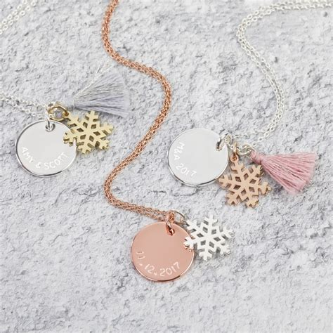 Makeup Jewelry Charming Or Disaster Waiting To Happen by Personalised Disc And Snowflake Charm Necklace