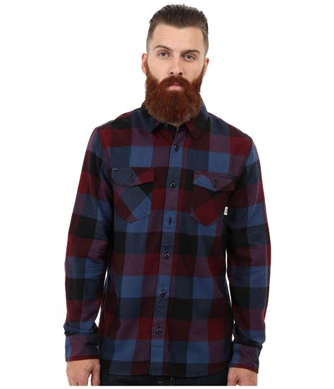 Kemeja Flannel The Mens Ls Galitto Branded 100 Original lyst vans box flannel ls shirt in blue for