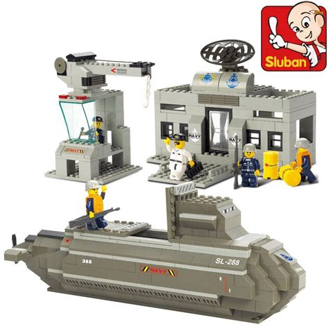Free Shipping Sluban 638pcs Set - sluban nuke submarine lego brick free shipping b end 5