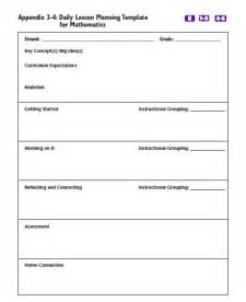 Kindergarten Math Lesson Plan Template by Daily Lesson Plans The Most Of Math