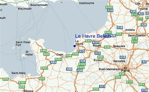 le havre map le havre surf forecast and surf reports normandy