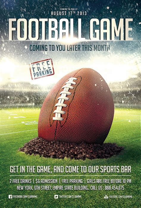 football flyer template get active collection of sports flyer templates