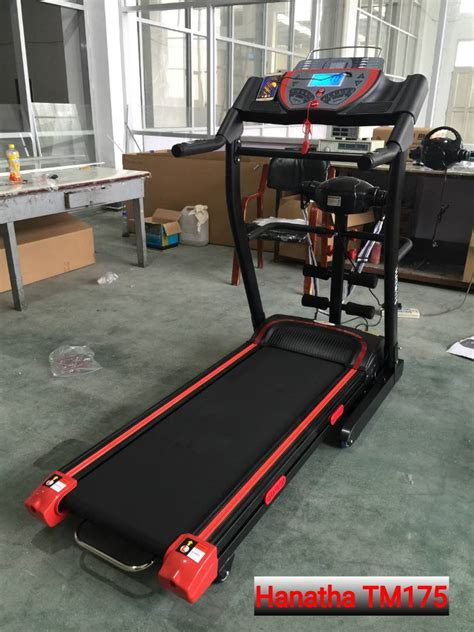 Alat Fitness Treadmill Manual 2 Fungsi Monitor Elektrik Orange jual alat fitness treadmill di bandung hanatha tm175